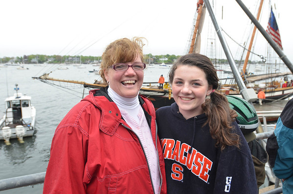 Jodi Vigneron and her daughter Paige, 12, of Marblehead