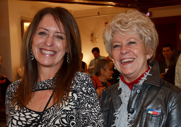 The Marblehead Festival of Arts annual Art Auction.   <br /> Kiki Taron Kinney, left, and Nann Weissenberger.