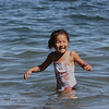Marblehead: Maggie Arbo, 4 and a half years old, plays in the water off of Gas House Beach in Marblehead. Photo by Mary Catherine Adams