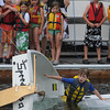 Marblehead:<br />  rights the sailboat after deliberately capsizing it in Marblehead harbor at the Boston Yatch Club. The exercise was a test to join the Boston Yatch Club Junior Sailing Program. <br /> Photo by Ken Yuszkus/Salem News, Monday, June 28, 2010.