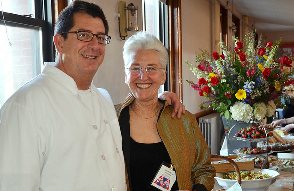 The Marblehead Festival of Arts annual Art Auction.   <br /> Dario Puerto, left, chef of the event, and Lynne DeVoe, President of the Marblehead Festival of Arts.