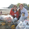 Marblehead: Marblehead High School seniors Arianna Moscone, left, and Molly Nash helped organize and advertise a beach cleanup day as part of a senior project.  They are planning on majoring in environmental studies next year in college.  Mark Teiwes / Salem News
