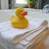 Marblehead:<br /> A rubber duck sits by the whirlpool bath in one of the bathrooms at Harbor Light Inn.<br /> Photo by Ken Yuszkus/Salem News, Wednesday, May 19, 2010.