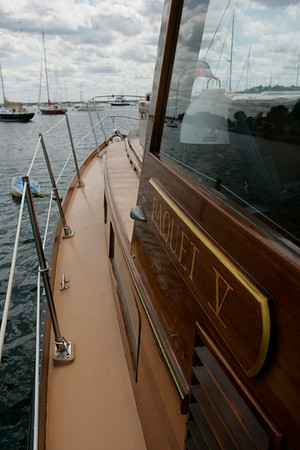 Carole and John Benning own a one-of-a-kind yacht, Paquet V. Photo by Mark Lorenz