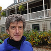 Marblehead:<br /> Dave Clarke, a British man who lives in Marblehead, at his home at 5 Harbor View Lane.<br /> Photo by Ken Yuszkus/Salem News, Tuesday October 27, 2009.