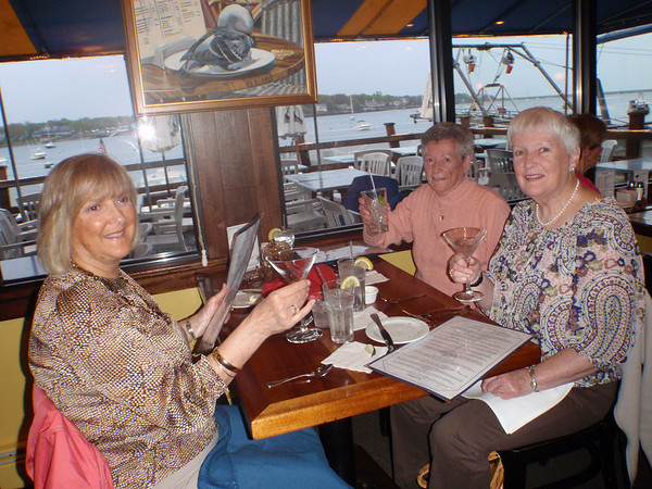 from left:  Jane Wyman of Swampscott, Janice Dunphy of Lynn and Cynthia Kuell of Swampscott  at the Nancamp fundraiser.<br /> Courtesy photo.