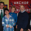 Left to Right: Mike Havey (Executive Director), Bonnie (ATW member), Judy Jacobi (President), and Chuck Bachner and Phyllis McCarthy ( Board members), at the Anchor to Windward Fundraiser at the Landing Restaurant in Marblehead on March 30, 2010. Anchor to Windward (ATW) supports adults with special needs to live independently.<br /> Courtesy photo.