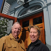 Marblehead:<br /> Sylvia and John Philbrook at The Terraces Bed & Breakfast.<br /> Photo by Ken Yuszkus/Salem News, Friday, May 7, 2010.