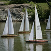 "Model Yacht racing has been gong on at Redd's Pond for years. Many people used the Marblehead Class boats, which are now imitated internationally. About 10 years ago, John Snow of Marblehead brought back the old Marblehead Class out of retirement and now many people race those, called ""Vintage Marbleheads."" Here several model yachts race against one another down one end of Redd's Pond. Photo by Deborah Parker June 13, 2009"