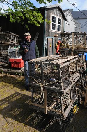 Marblehead:<br /> Joey Sylvester, Marblehead lobsterman.<br /> Photo by Ken Yuszkus/Salem News, Monday, May 9, 2011.