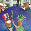 Children's Festival at the Marblehead Festival of Arts.<br /> Pictured from left: Lori, Nina, 4, Ava, 5, and Peter Miller of Guelph, ON Canada.