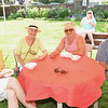 Old Fashioned Ice Cream Social in the Lee Mansion Garden. Pictured from left: Nancy Arata, Joan Hollister, Phyllis and Rod Smith all of Marblehead.