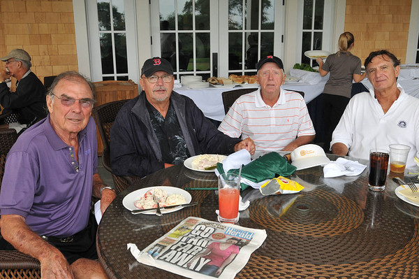 Marblehead: Pictured from left, Bill Reilly of Marblehead, Ken Evans of Marblehead, Jack Barry of Nahant, and John Mulderig of Marblehead for the Paul Hannaway Memorial Golf Classic at the Tedesco Country Club