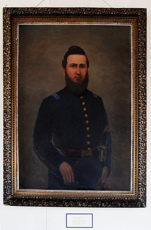 Marblehead:<br /> Lt. John Goddwin, Jr., was the first from Marblehead to be killed in the Civil War. The GAR Room, which was established by Civil War veterans and has been kept exactly as they left it when the last veteran died in the 1930s.<br /> Photo by Ken Yuszkus/Salem News, Friday, May 6, 2011.