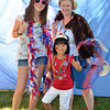 Children's Festival at the Marblehead Festival of Arts.<br /> Pictured from left: Kennedy, 13, Kaylyn, 5, and Vicki Duddlesten of Marblehead
