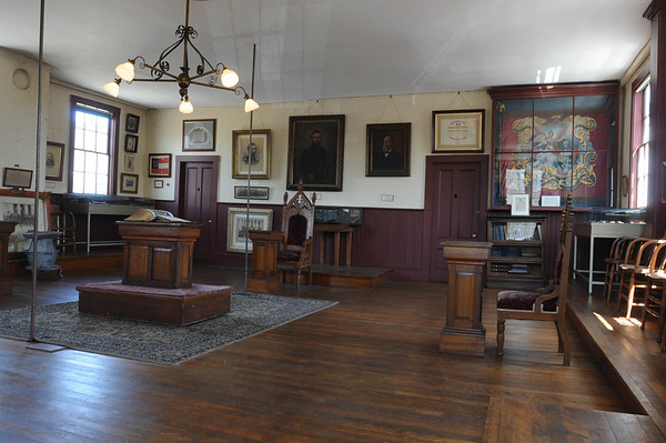 Marblehead:<br /> The GAR Room, which was established by Civil War veterans and has been kept exactly as they left it when the last veteran died in the 1930s.<br /> Photo by Ken Yuszkus/Salem News, Friday, May 6, 2011.