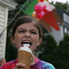 A group of kids, part of a summer sailling program at Eastern Yacht Club in Marblehead, celebrated the last day of the program with a boat trip to Captain Dusty's in Manchester by the Sea for some ice cream. Avery Pendelton enjoys her ice cream.