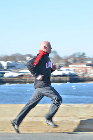 Mike Toomey is running the Boston Marathon this year to raise money for autism awareness. <br />   photo by Mark Teiwes / Salem News