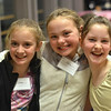 Marblehead: Out and About: Boston Ballet's Marblehead Studio celebrates its 2nd Anniversary on the North Shore, pictured from left, Emma Grazado of Marblehead, 10, Emily Lamontagne of Marblehead, 10, and Jaelyn Angelo of Lynn, 11.