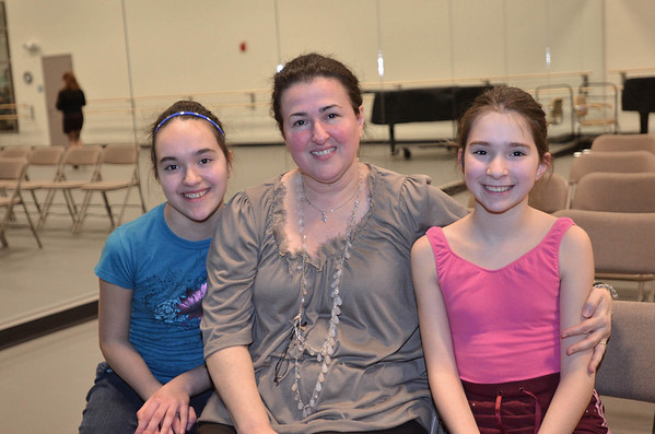 Marblehead: Out and About: Boston Ballet's Marblehead Studio celebrates its 2nd Anniversary on the North Shore, pictured from left, Nepheli, 13, Sunday, and Natalia Beos, 11, of Lynn.