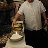 Marblehead:<br /> Alipio Silva, chef at Caffe Italia, is cooking an eggplant dish.<br /> Photo by Ken Yuszkus/Salem News, Friday, February 25, 2011.