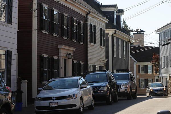Marblehead:<br /> 18th century houses located on Hooper Street.<br /> Photo by Ken Yuszkus/Salem News, Tuesday, October 25, 2011.