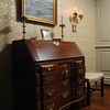 Marblehead:<br /> The blockfront desk by Ebenezer Martin, Marblehead cabinet maker, stands in the  livingroom at the house at 147 Washington Street which was built in the mid-18th century. It is owned by Pat Lausier.<br /> Photo by Ken Yuszkus/Salem News, Thursday, October 27, 2011.