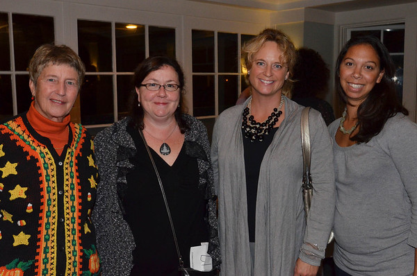 Pictured from left, Pat Richwagen, Carrie Thomas, Kristen Bosworth, Sharman Pollender, all from Marblehead, at the annual Octoberfest sponsored by Marblehead Chamber of Commerce at the Corinthian Yacht Club