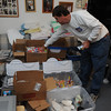 Marblehead:<br /> Mark and Janet Brings ship packages at the Marblehead post office and pack boxes at their home in Marblehead as part of Calling All Patriots Troops Support ( C.A.P.T.S ). They send a majority of care packages to the troops from Marblehead that are in Iraq and Afghanistan.<br /> Photo by Ken Yuszkus/Salem News, Tuesday, October 4, 2011.