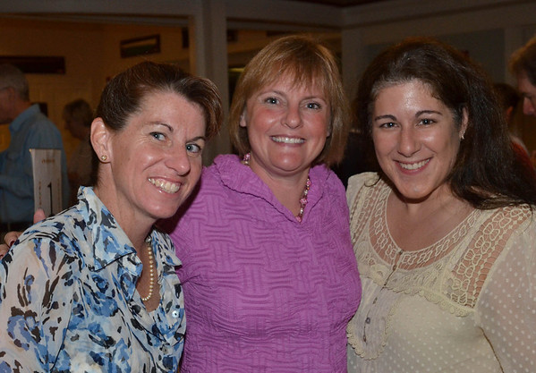 Pictured from left, Ellen Ernst, Lisa Hooper, both of Marblehead, and Ann Marie Casey, director of the Marblehead Chamber of Commerce.