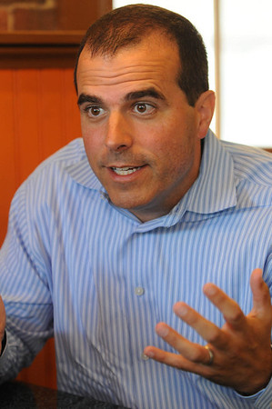 Marblehead:<br /> Mark Rodgers is from Marblehead and works on the Cape Wind project.<br /> Photo by Ken Yuszkus/Salem News, Thursday, July 7, 2011.