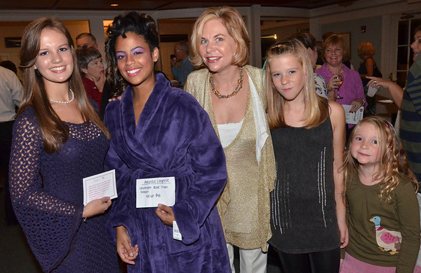 Pictured from left, Lizzy Sullivan of Swampscott, Cecilia Aguero of Marblehead, and Lauren Kantor of Swampscott with her daughters Caroline, 11, and Annalise, 8, at the annual Octoberfest sponsored by Marblehead Chamber of Commerce at the Corinthian Yacht Club