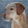 "KEN YUSZKUS/Staff photo.    Alicia Cohen's acrylic painting, ""Untitled"".    01/25/16."