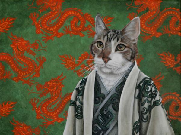 "KEN YUSZKUS/Staff photo.    Alicia Cohen's acrylic painting, ""Jie Li"".    01/25/16."