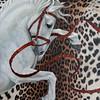 "KEN YUSZKUS/Staff photo.    Alicia Cohen's acrylic painting, ""Liberace"".    01/25/16."