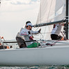 AMANDA SABGA/ Staff photo <br /> <br /> The crew of Dallas based J70, Stampede, captained by Bruno Pasquinelli, prepares the sail while rounding a turn in the Helly Hansen NOOD Regatta at the 126th Marblehead Race Week.<br /> 7/24/15
