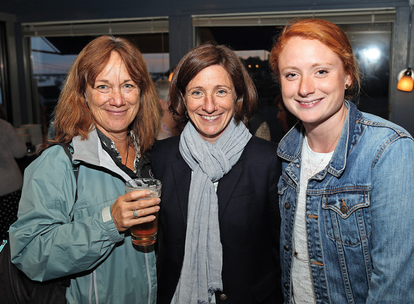 DAVID LE/Staff photo. Laura Sargent, left, and Heidi and Katie Herlihy, all of Marblehead, at the Marblehead Works Launch Party held at The Landing Restaurant on Thursday May, 19, 2016. Marblehead Works is a new e-commerce platform that allows numerous small businesses and artisans in Marblehead to have the opportunity to compete in the online marketplace. 5/19/16.