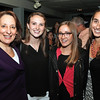 DAVID LE/Staff photo. From left, State Representative Lori Ehrlich, and college rising juniors Hannah Harper, Lily Roberts, and Anna Valuev, of Marblehead, at the Marblehead Works Launch Party held at The Landing Restaurant on Thursday May, 19, 2016. Marblehead Works is a new e-commerce platform that allows numerous small businesses and artisans in Marblehead to have the opportunity to compete in the online marketplace. 5/19/16.