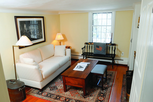 Ken Yuszkus/Staff photo: Marblehead:  The reading room on the second floor at 13 Walldron Court in Marblehead.