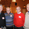 Marblehead:<br /> From left, Buck Grader, Jerry Ryan, Tom Frary, and Jay Henderson, played football for Marblehead, attended the Marblehead-Swampscott annual 'Old-Timers Night' at the Gerry 5 Club in Marblehead.<br />  Photo by Ken Yuszkus / The Salem News, Monday, November 25, 2013.
