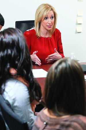 Ken Yuszkus/Staff photo:  Rhonda Gilberg teaches at Endicott College.