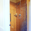 Ken Yuszkus/Staff photo: Marblehead:  The shower off the study on the first floor at 13 Walldron Court in Marblehead.