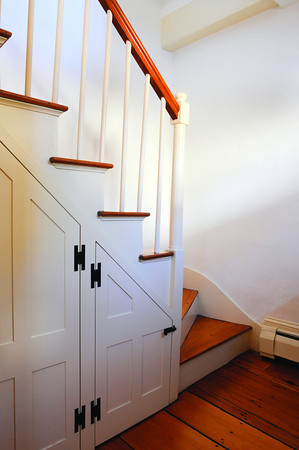 Ken Yuszkus/Staff photo: Marblehead:  The stairway leading to the second floor at 13 Walldron Court in Marblehead.