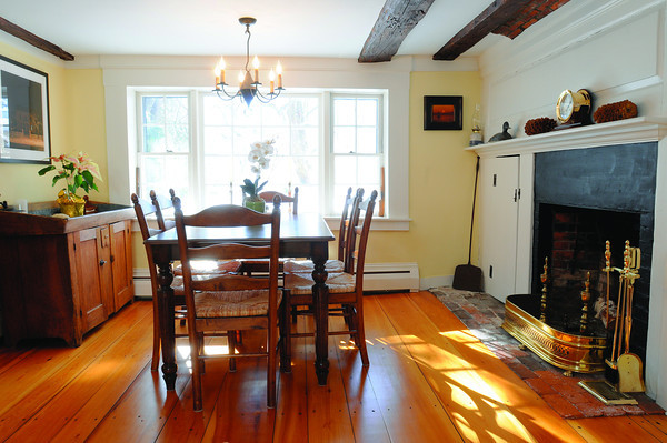Ken Yuszkus/Staff photo: Marblehead:  The formal dining room at 13 Walldron Court in Marblehead.