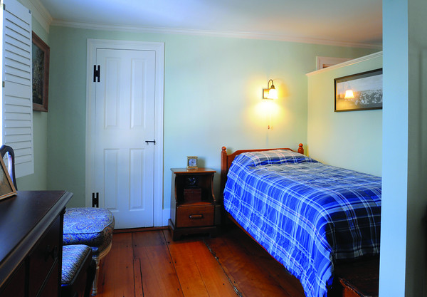 Ken Yuszkus/Staff photo: Marblehead:  The guest bedroom on the second floor at 13 Walldron Court in Marblehead.
