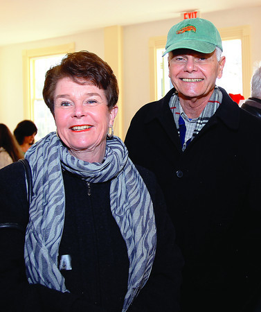Marblehead: Chris and Cheri Graham, at the reopening ceremony of Old Town Hall in Marblehead. DAVID LE/Staff Photo