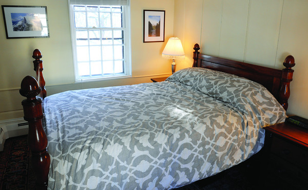 Ken Yuszkus/Staff photo: Marblehead:  The master bedroom on the second floor at 13 Walldron Court in Marblehead.