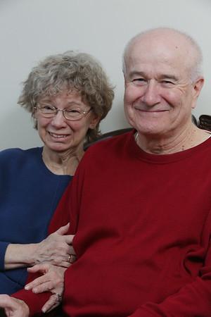 KEN YUSZKUS/Staff photo.  Lynn and W. Thomas Moulton at their home in Marblehead.   02/04/15
