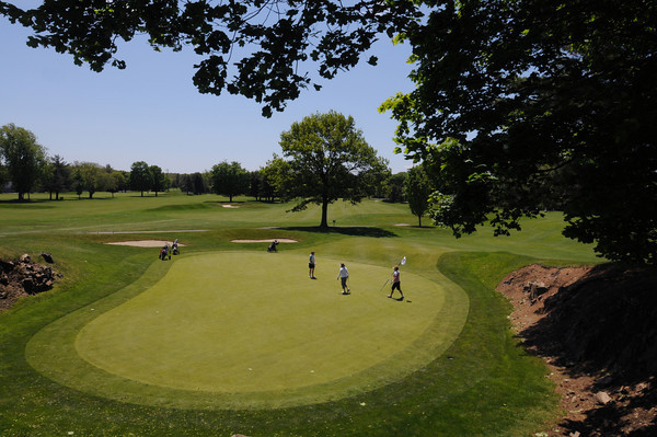 MARBLEHEAD HOME AND STYLE Magazine:<br /> The second hole at Tedesco Country Club.<br /> <br /> Photo by Ken Yuszkus, Monday May 27, 2013.