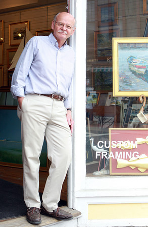 Marblehead: Gene Arnould is the owner of Arnould Gallery and Framery in Marblehead. David Le/Marblehead Home and Style